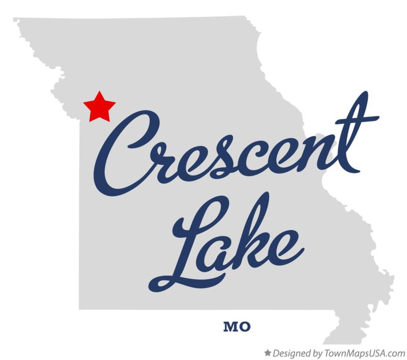Map of Crescent Lake Missouri MO