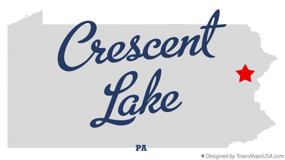 Map of Crescent Lake Pennsylvania PA