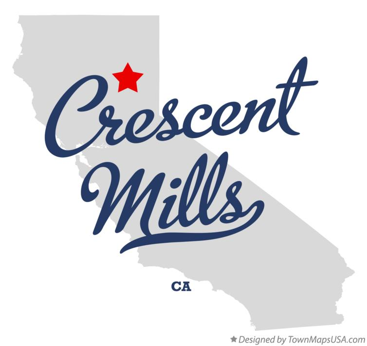 Map of Crescent Mills California CA