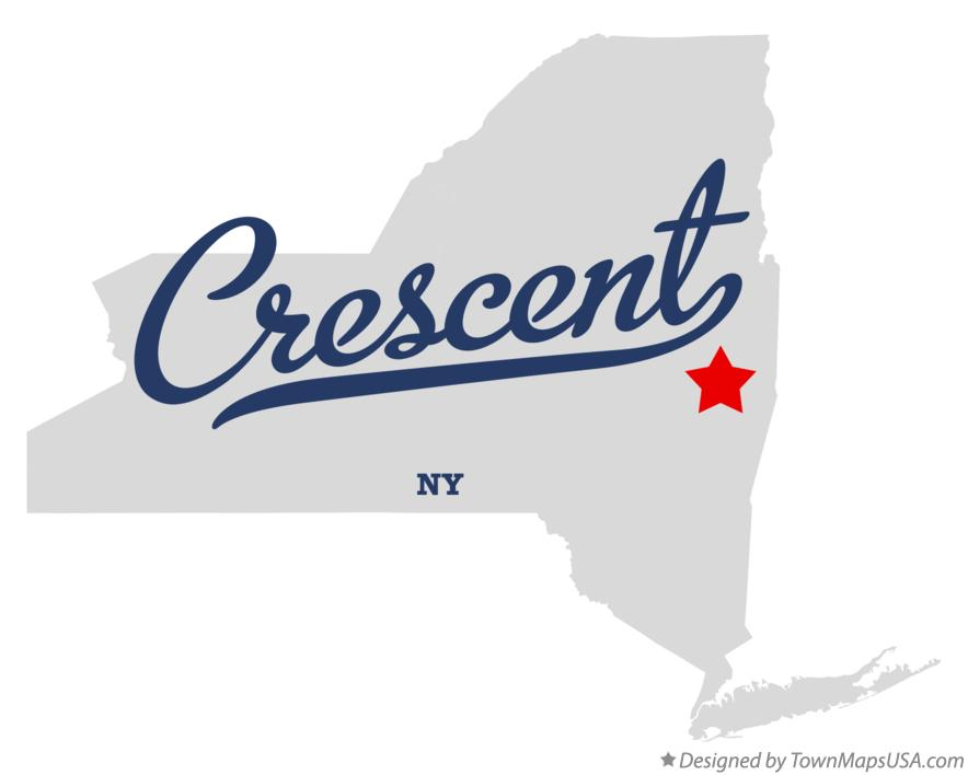 Map of Crescent New York NY