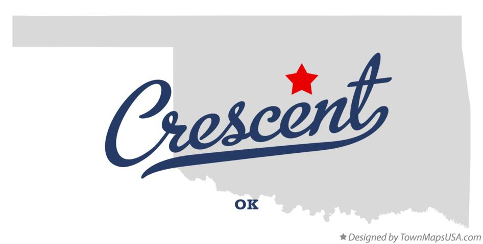 Map of Crescent Oklahoma OK