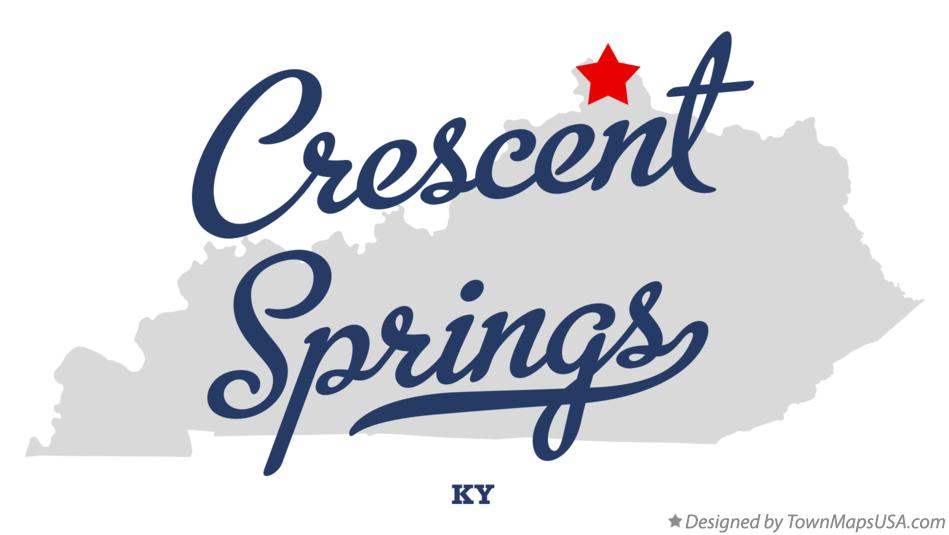 Map of Crescent Springs Kentucky KY