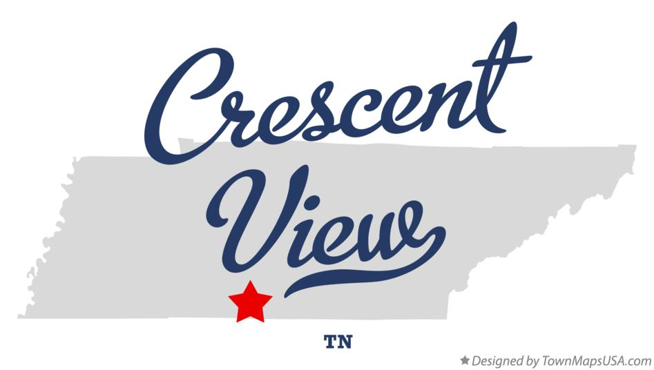 Map of Crescent View Tennessee TN