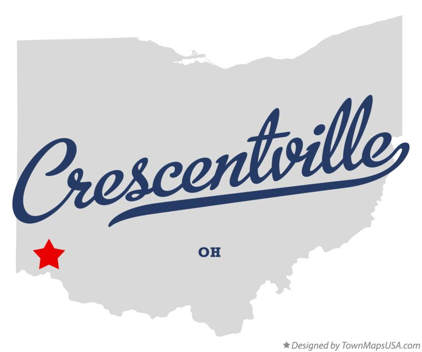 Map of Crescentville Ohio OH