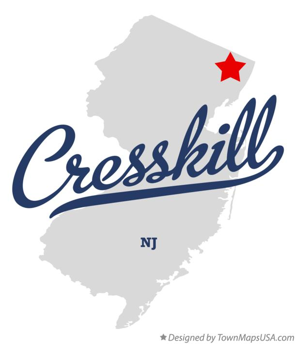 Map of Cresskill New Jersey NJ