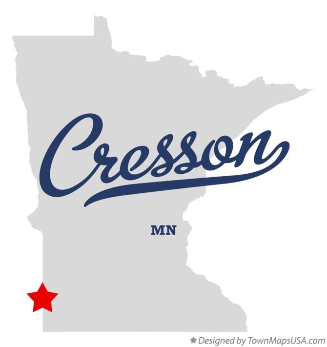 Map of Cresson Minnesota MN
