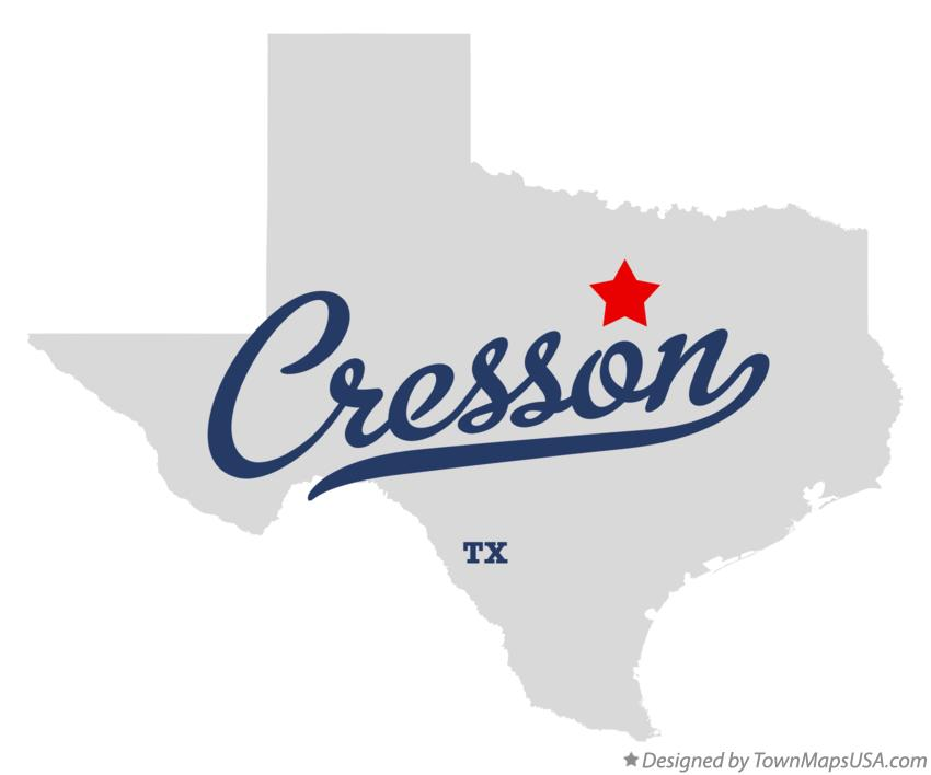 Map of Cresson Texas TX