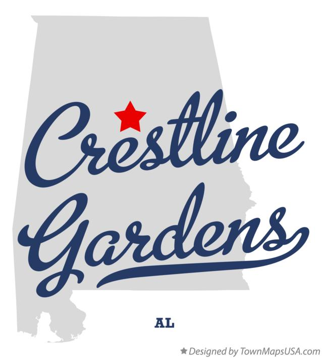Map of Crestline Gardens Alabama AL
