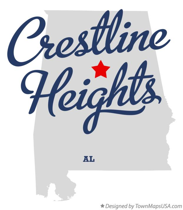 Map of Crestline Heights Alabama AL