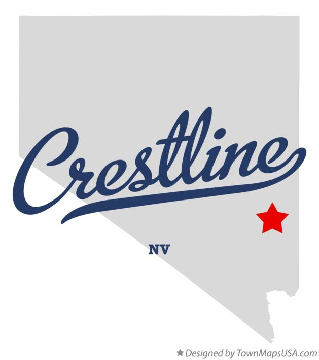 Map of Crestline Nevada NV