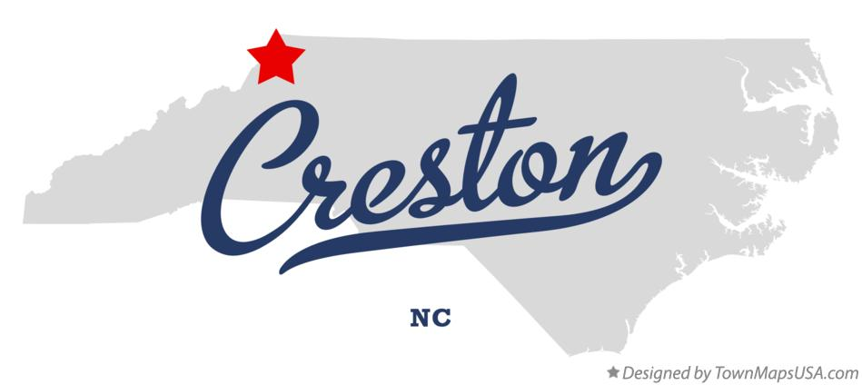 Map of Creston, NC, North Carolina
