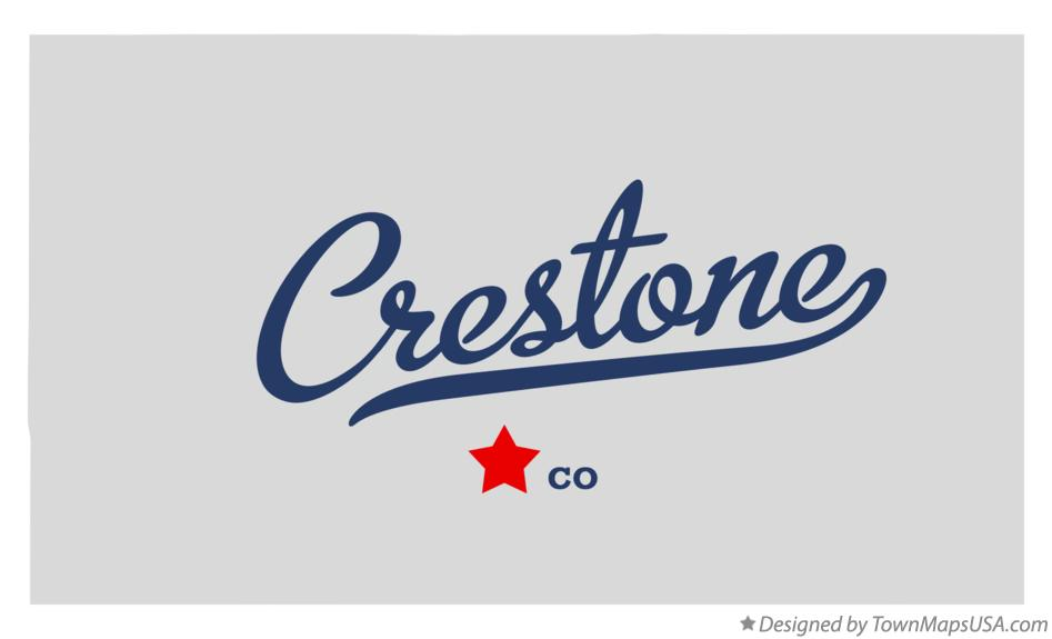 Map of Crestone Colorado CO