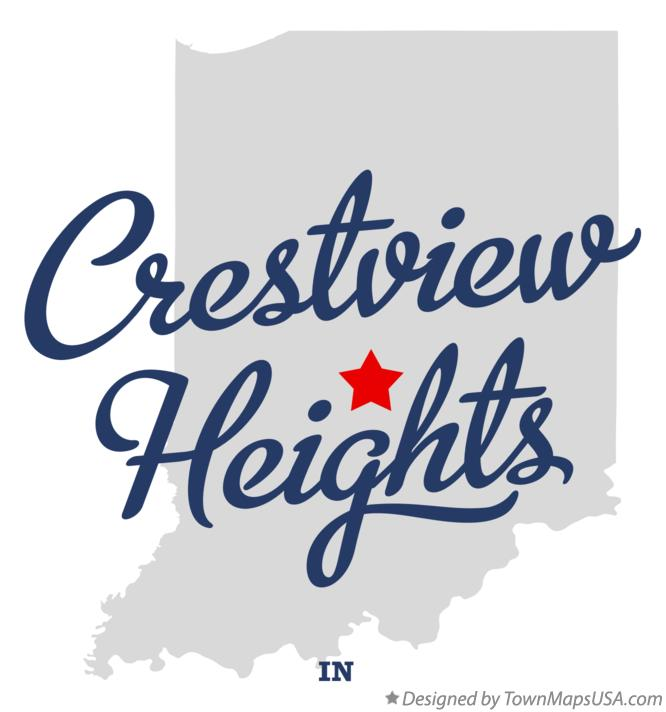 Map of Crestview Heights Indiana IN