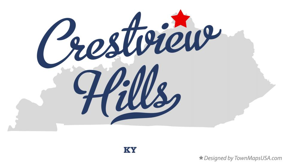 Map of Crestview Hills Kentucky KY