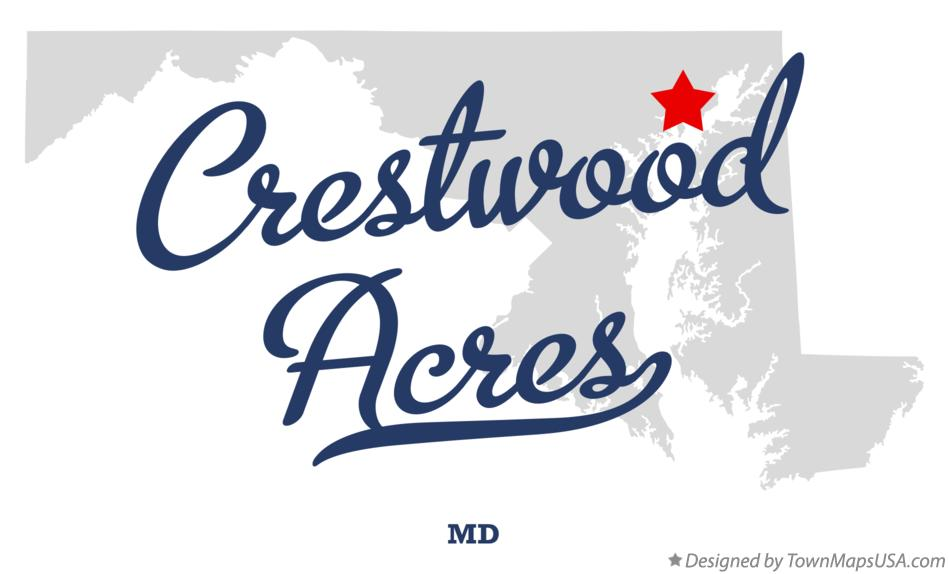 Map of Crestwood Acres Maryland MD