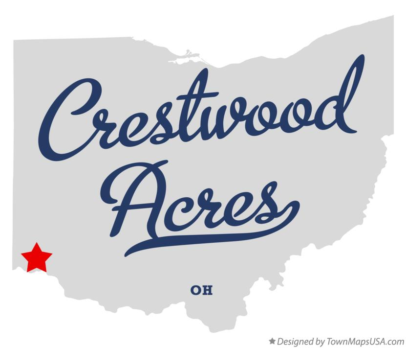 Map of Crestwood Acres Ohio OH