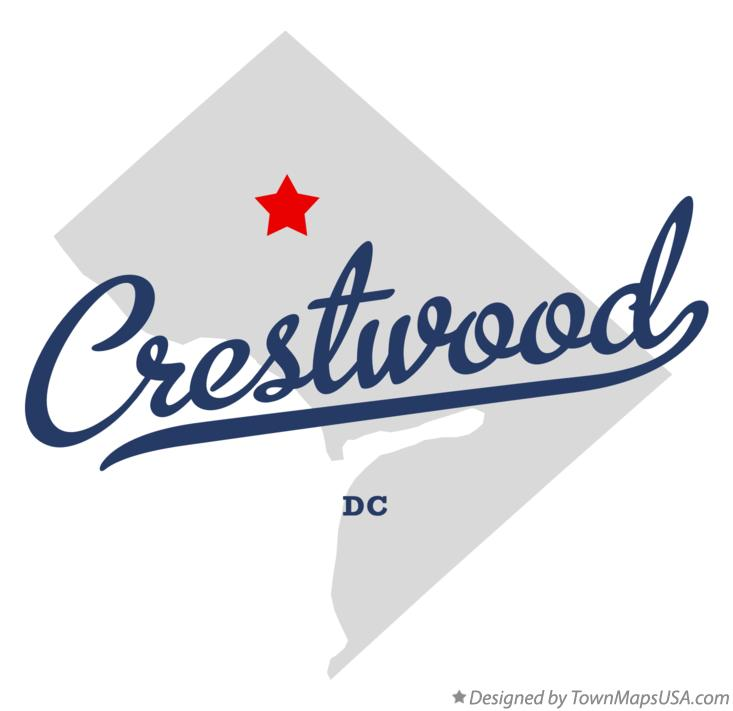 Map of Crestwood District Of Columbia DC