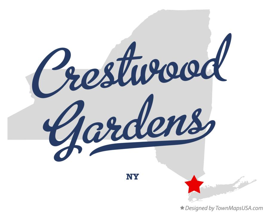 Map of Crestwood Gardens New York NY