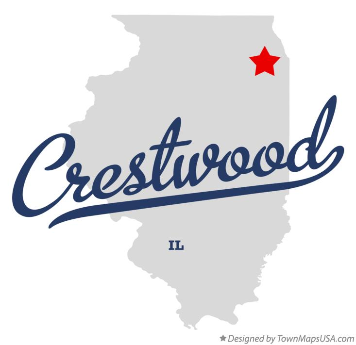Map of Crestwood Illinois IL
