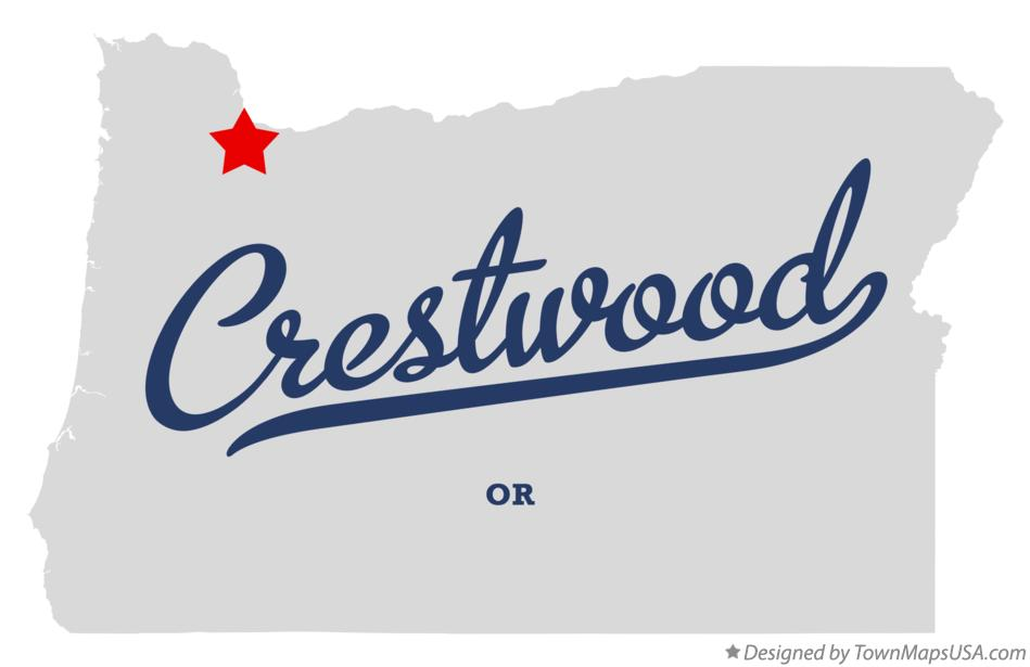 Map of Crestwood Oregon OR