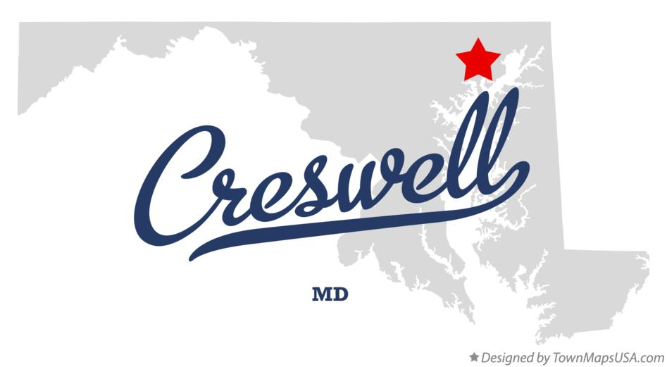 Map of Creswell Maryland MD