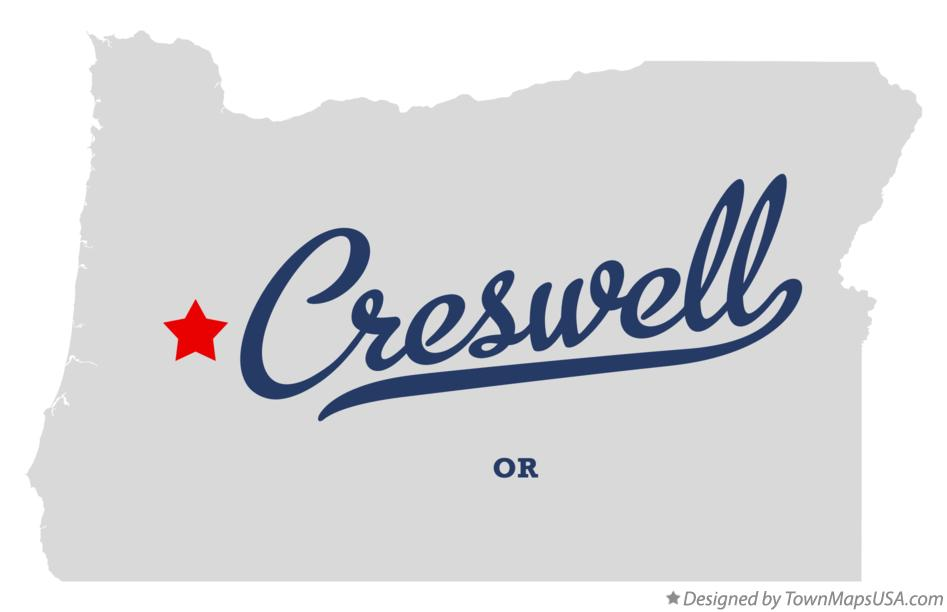 Creswell Oregon Map Home Oregon Map of Creswell