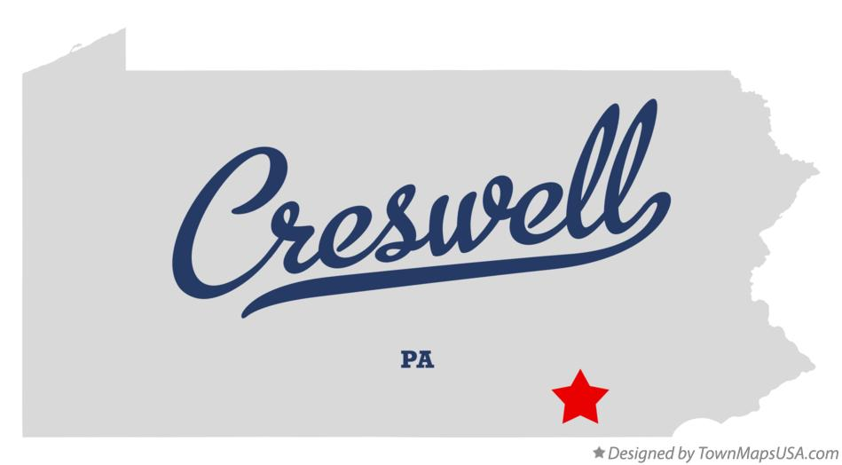 Map of Creswell Pennsylvania PA