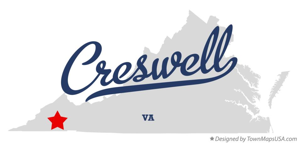 Map of Creswell Virginia VA