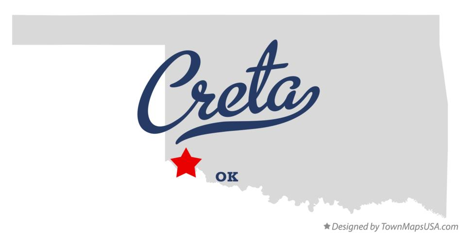 Map of Creta Oklahoma OK