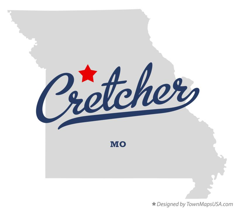 Map of Cretcher Missouri MO