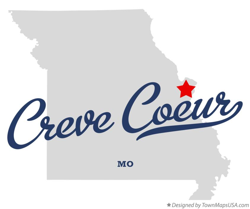 Map of Creve Coeur Missouri MO