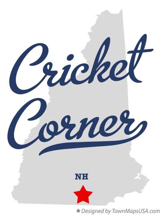 Map of Cricket Corner New Hampshire NH