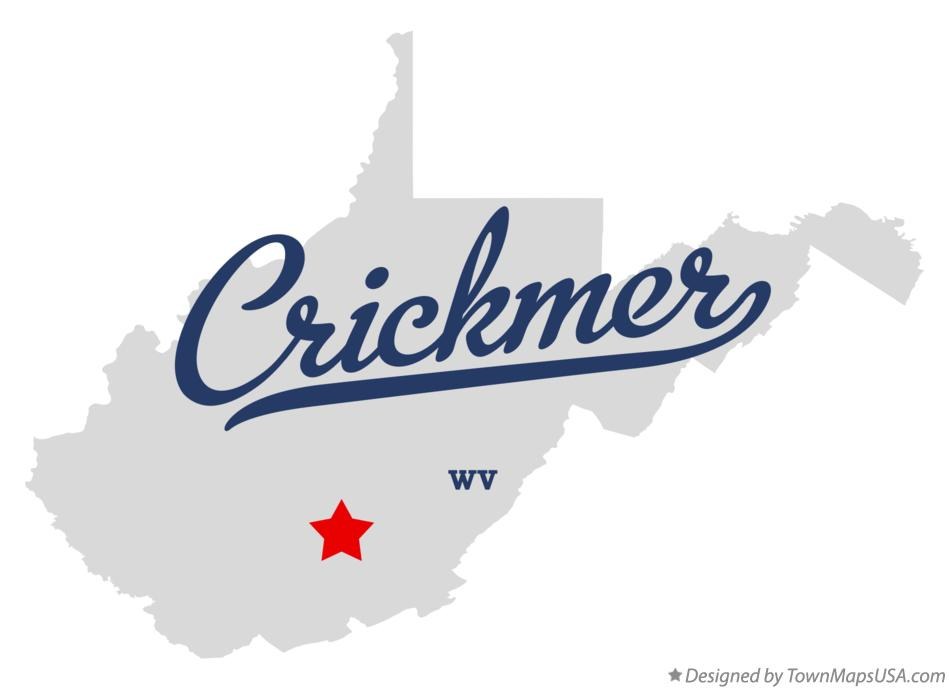 Map of Crickmer West Virginia WV
