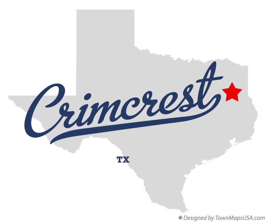 Map of Crimcrest Texas TX