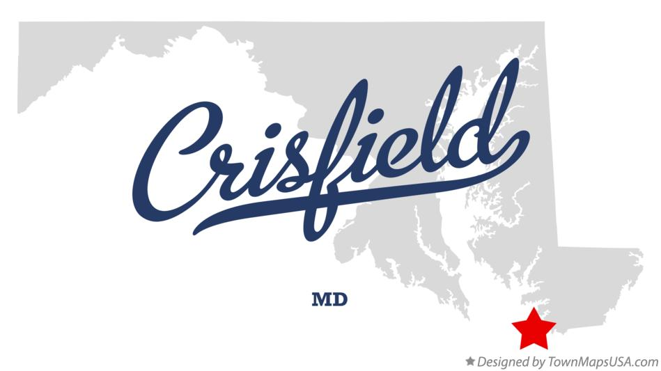 Map of Crisfield Maryland MD