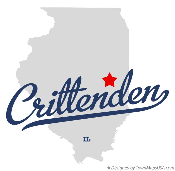 Map of Crittenden Illinois IL