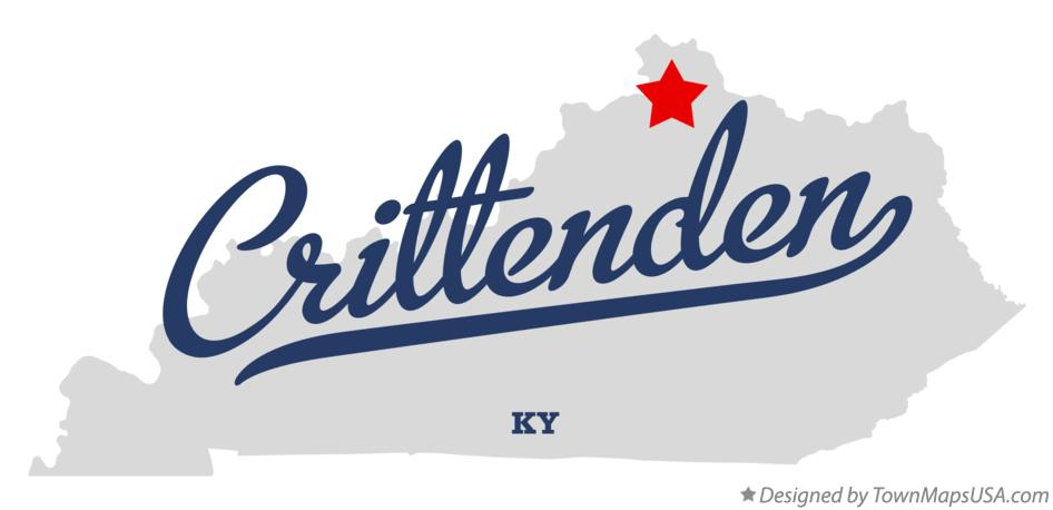 Map of Crittenden Kentucky KY