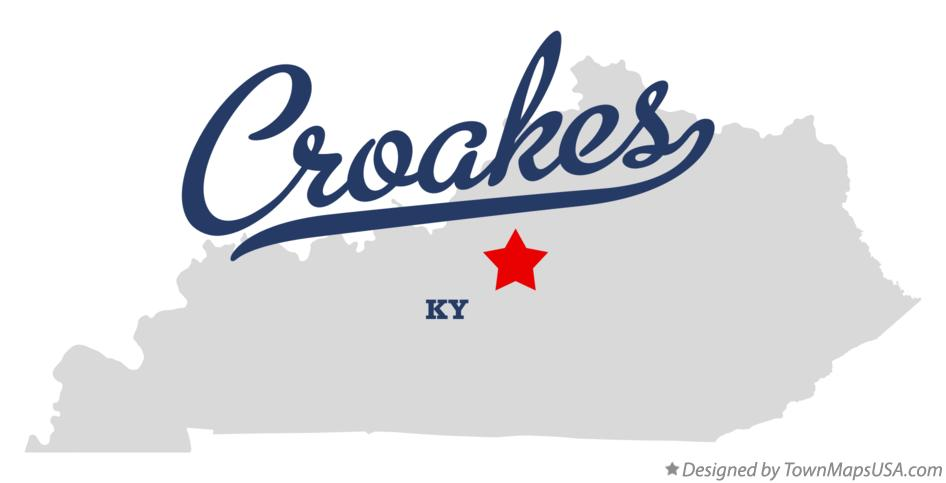 Map of Croakes Kentucky KY