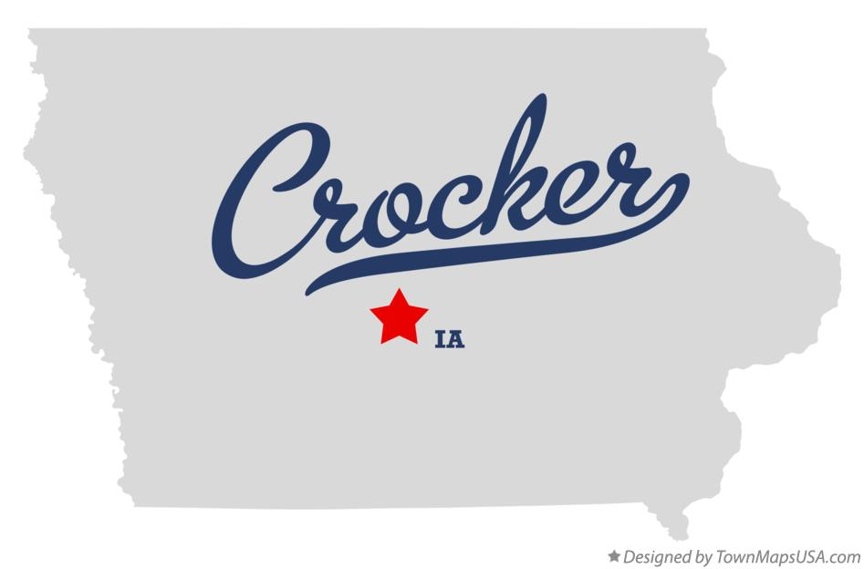 Map of Crocker Iowa IA