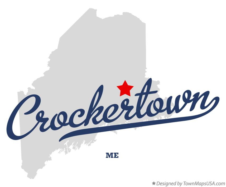 Map of Crockertown Maine ME