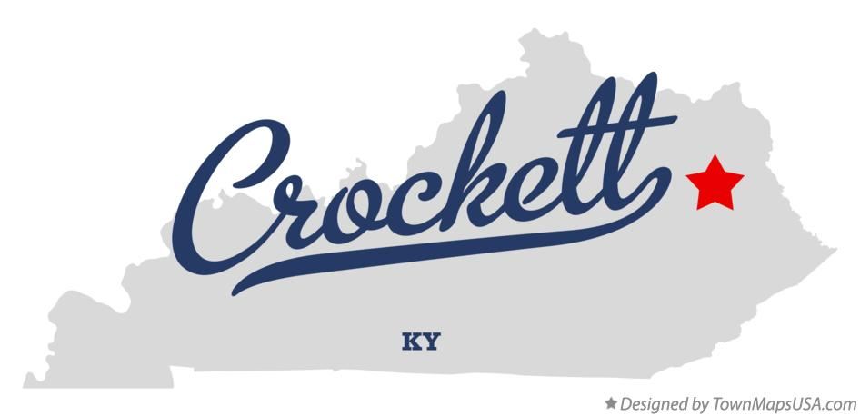 Map of Crockett Kentucky KY