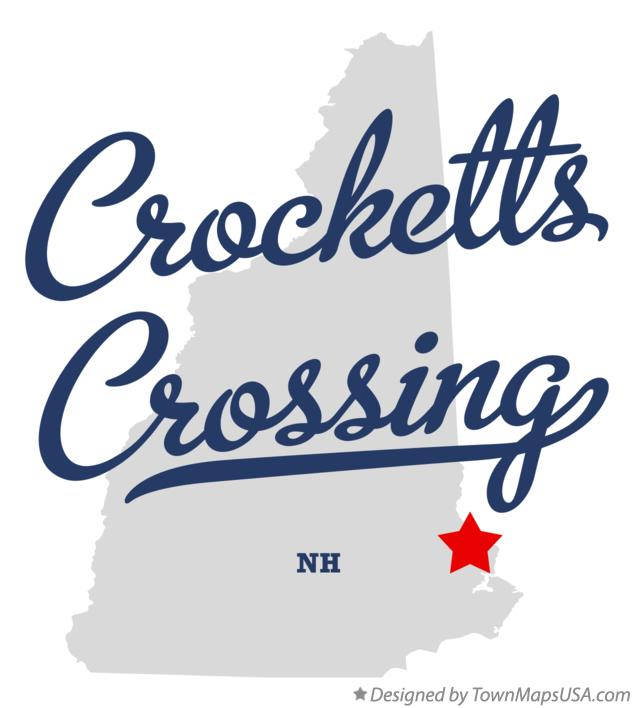 Map of Crocketts Crossing New Hampshire NH
