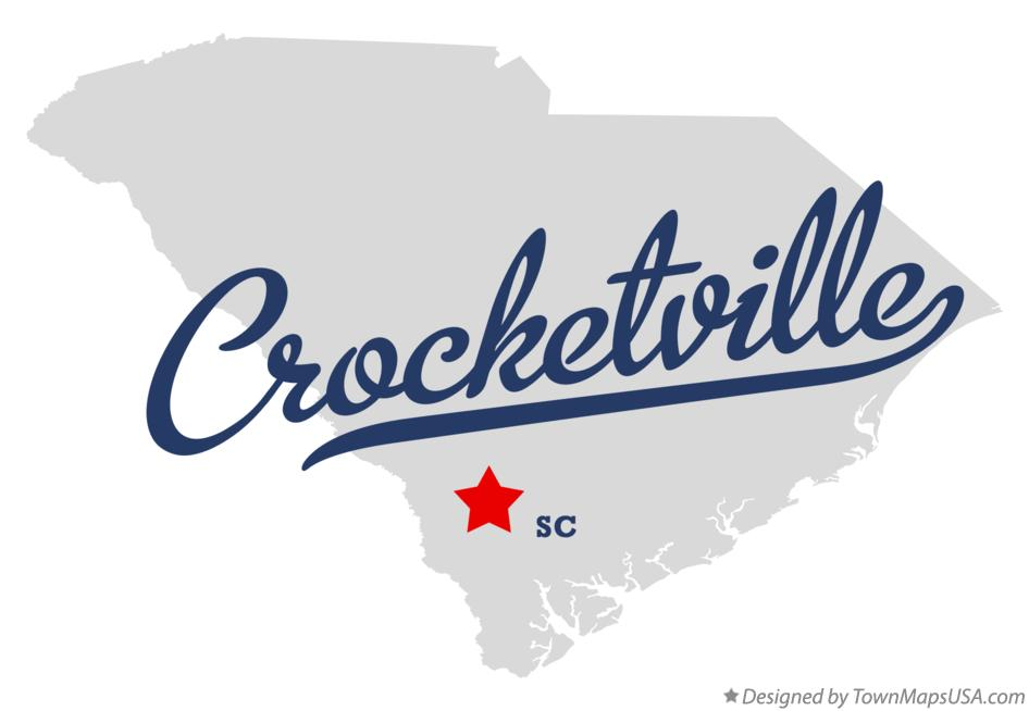 Map of Crocketville South Carolina SC
