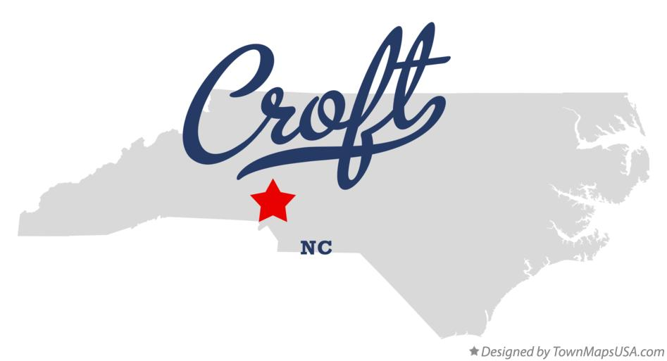 Map of Croft North Carolina NC
