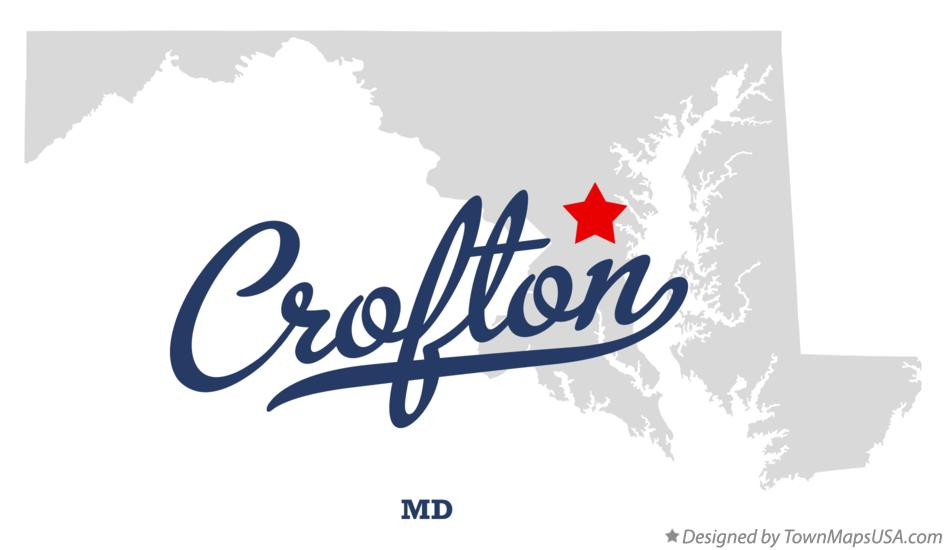 Map of Crofton Maryland MD