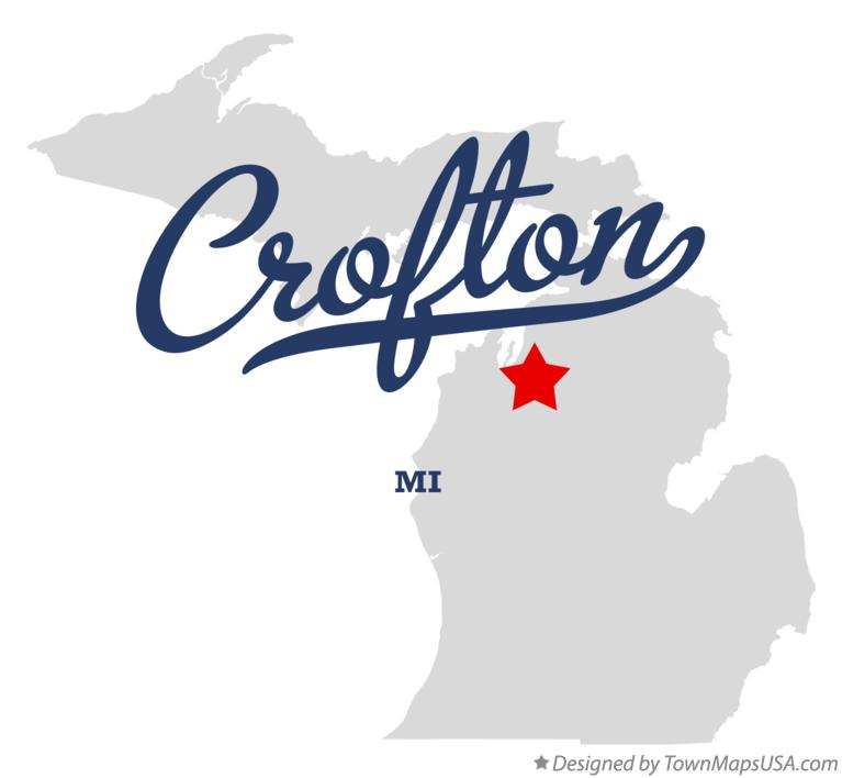 Map of Crofton Michigan MI