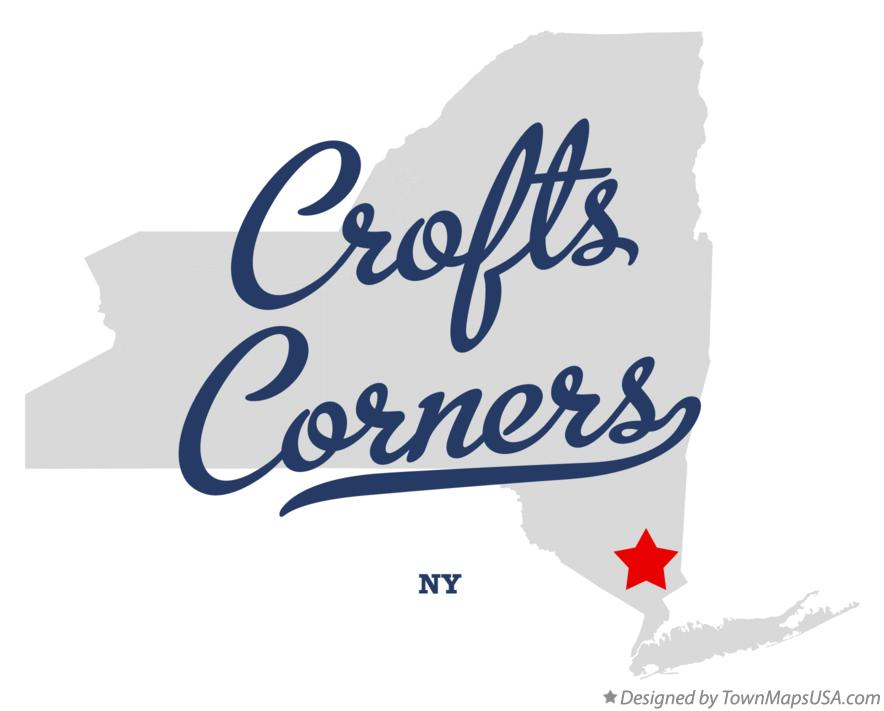 Map of Crofts Corners New York NY