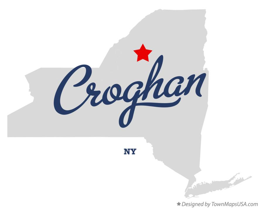 Map of Croghan New York NY
