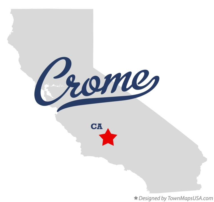 Map of Crome California CA