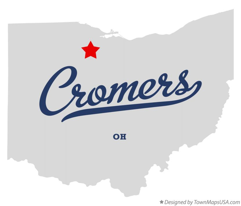 Map of Cromers Ohio OH